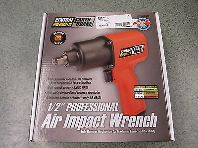 """EarthQuake Central Pneumatic 1/2"""" Professional Air Impact Wrench 62627 Red"""