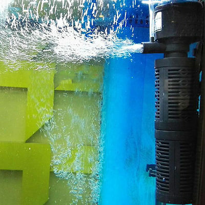 Fish Tank 3in1 Internal Filter Submersible Pump £7.99 FREE P&P UK PLUG UK SELLER