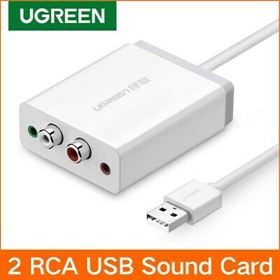 Ugreen External Stereo USB Sound Adapter with 3.5mm Aux Stereo and 2 RCA Convert