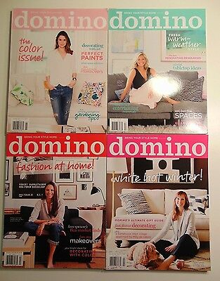 4 Domino Magazines 2014 -- Spring, Summer, Fall, Winter -- Complete Year