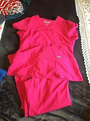 Grey's Anatomy Pink scrub set size XL