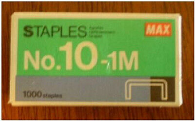 1BOX 1000ct. MAX Mini Staples fits SWINGLINE TOT 50 -NEW IN BOX Fast Shipping!