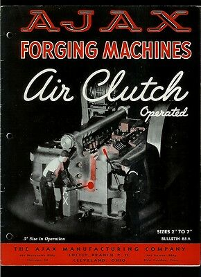 Super Duper Rare Vintage 1939 AJAX Air Clutch Operated Forging Machines Catalog