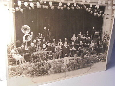 E.B. Ackley's Band in Sandusky Ohio Actual 8x10 Vintage Photograph 1934 Picture
