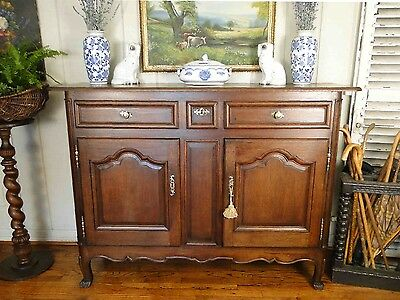 Antique French Country Buffet Sideboard Server Beautifully Carved Mahogany