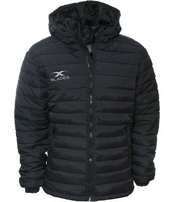 XBlades Chambers Padded Managers Jacket Coat Full Zip Black Warm Coat