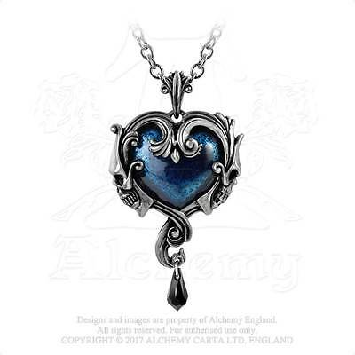 Alchemy Gothic Pendant AFFAIRE DU COEUR Necklace P792 Midnight Love