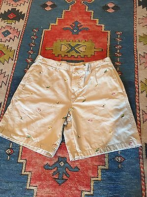 L.L. Bean Mens Embroidered Fly Fishing Shorts...Sz 36W...Tan Color...SOLD OUT