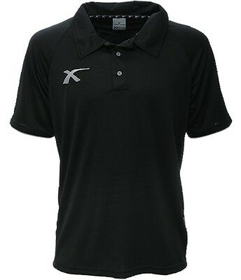XBlades Elite Pro Training Polo Shirt Training Top Black Sportswear Rugby