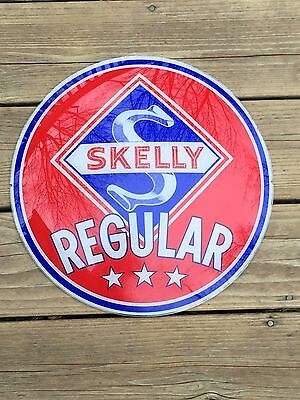 Skelly Oil Company Vintage & Original Gas Station Globe Sign - Rare
