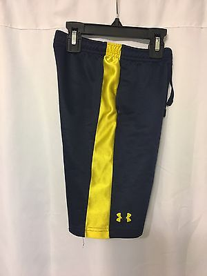 Under Armour Boy's Kids Athletic Shorts Size 4T Toddlers Color BLUE/ YELLOW