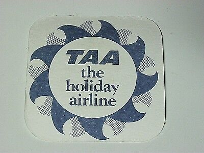 Vintage Taa Airline Beer Coaster / Mat, Great Keppel Island, Bintang,singlet,new