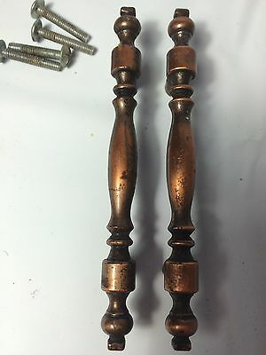 Set (2) Retro Vintage Ajax 9568 Copper Finish Drawer Cabinet Door Handles Pulls