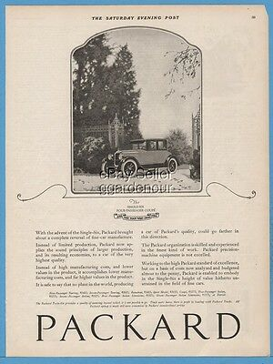 1922 Packard Single Six Coupe Model antique closed motor car automobile ad