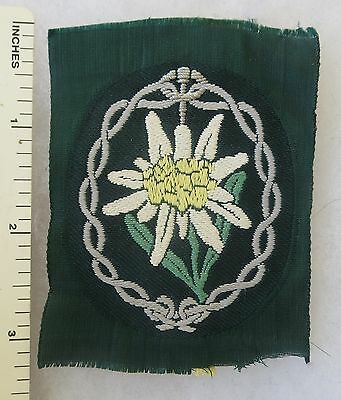 ORIGINAL WW2 Vintage GERMAN ARMY MOUNTAIN GEBIRGSJAGER PATCH EDELWEISS BEVO
