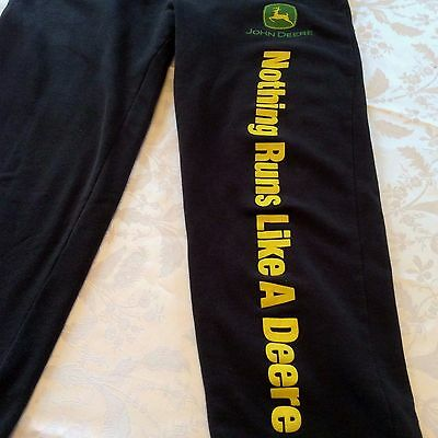 Port Authority John Deere Sweat Pants Women's SZ Med NOTHING RUNS LIKE A DEERE