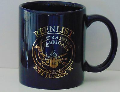 Coffee Mug US Army 4th Training Brigade Fort Ft Jackson SC Basic Reenlist