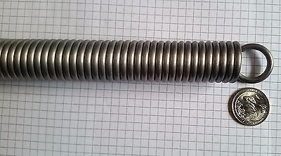 """Large Stainless Steel Extension Spring 1"""" Diam up to 14"""" L.  Mac Short Order Spg"""