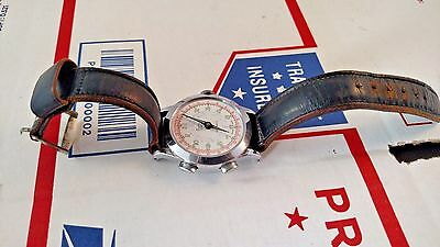 Muros Jeweled Antimagnetic Wrist Watch Vintage Chronograph Parts Repair AS IS