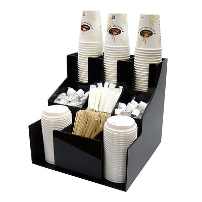 Winco CLSO-3T 3 Tiers 3 Stacks Cup & Lid Organizer