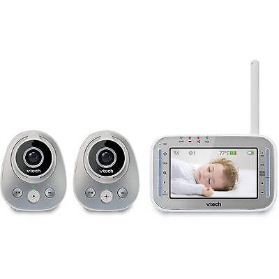 New VTech VM342-2 Safe Sound Video Baby Monitor with 2 cameras- Free shipping