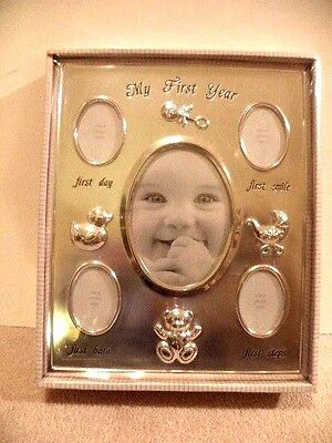 """my first year photo frame Macy's First Impressions New In Box Sealed 10 3/4"""" x 8"""