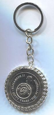 2016 Australian 50cent Coin Key Ring - 50 Years of Decimal Currency   #5073