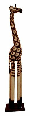 "Balikraft Hand Made Wood Artisans ""Jerapah Mega"" Large Upright Safari Giraffe An"