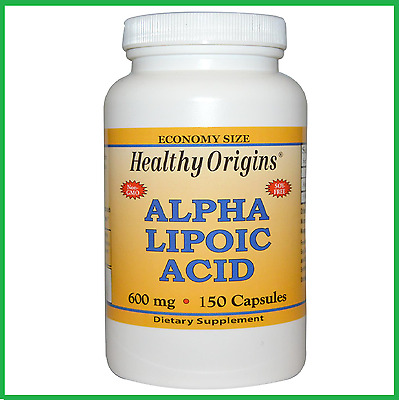 Alpha Lipoic Acid 600mg 150 Capsules by Healthy Origins - BIG BOTTLE VALUE