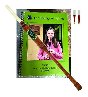 Learn to Play Bagpipe Manual Book / CD Practice Chanter and reeds
