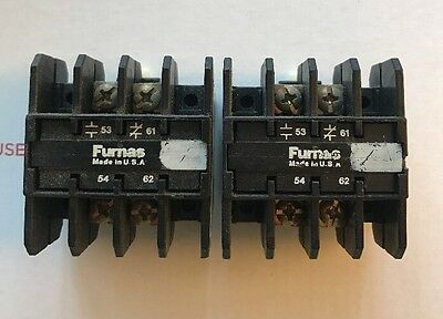 Lot of 2 Furnas Auxiliary Contacts 49ABT6  **Fast Shipping** NEMA A600 P600