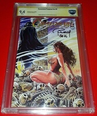 Cavewoman Pangaean Sea #8 CBCS SS 9.4 Signed by Budd Root (Not CGC)