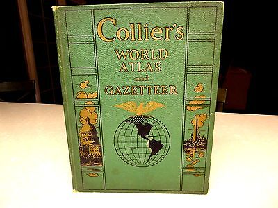 1942 Collier's World Atlas and Gazetteer WWII Map of Europe