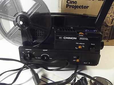 Chinon 2500GL Variable Speed Cine Projector Dual 8 mm/Super 8 mm