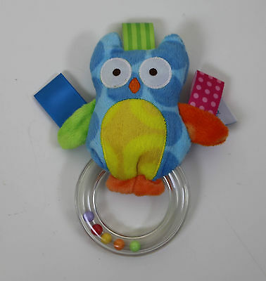 Taggies Baby Toy Owl Rattle Plush