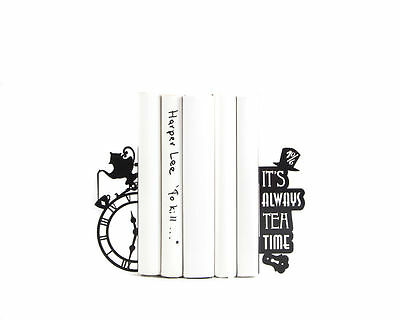 Atelier Article - Gift Steel bookends - Mad tea party (Black)