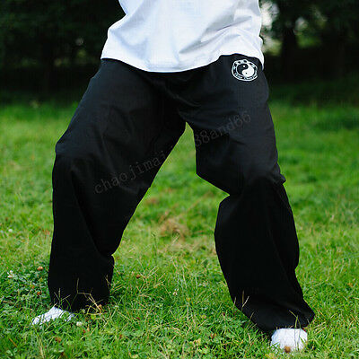 Cotton Kung Fu Tai chi martial arts Pants Wing chun Training Trousers Men black