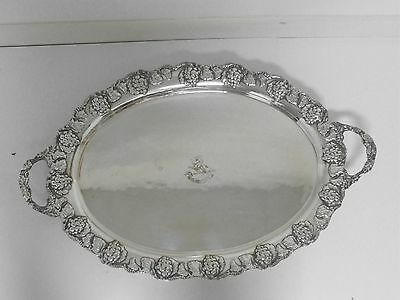 Tray, Antique Sheffield Silver Plate