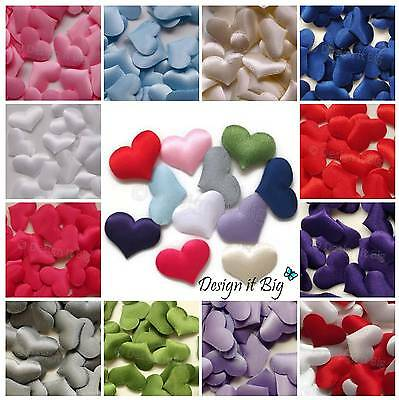 Satin Padded Love Hearts Craft Embellishments Table / Valentines / Wedding Decor