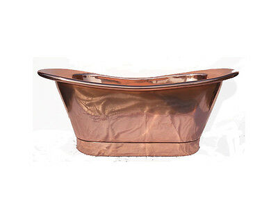 """Copper Bathtub """"Florence"""" Hand Made Package Deal 1700mm"""