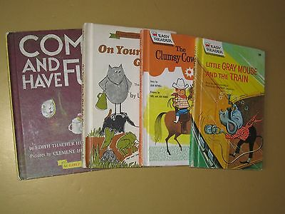 Vintage Children's Books, Lot Of 4, Assorted Stories & Authors, GC.
