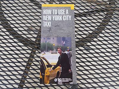 Vintage New York City Taxi Brochure