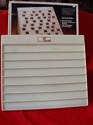 Vintage Electric Illuminated Logan Slide Sorter Viewer  1080 Holds 80 Slides