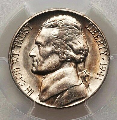 1941-S Large S PCGS MS66 FS-501 (024.5) Jefferson Nickel GEM BU Obv Almost PL