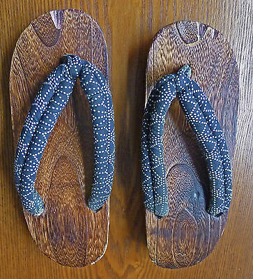Traditional Japanese wooden clogs sandals shoes Geisha slippers