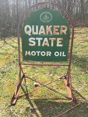 Original 1971 Quaker State Tombstone sign Used