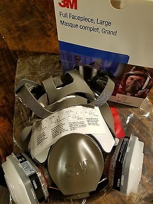 3M Respirator Full Face Free Organic Vapor And Particulate Filter
