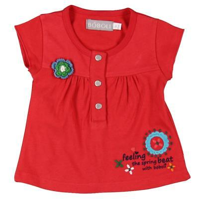 Bóboli girls T-Shirt Knitted flower red sz. 74 - 92