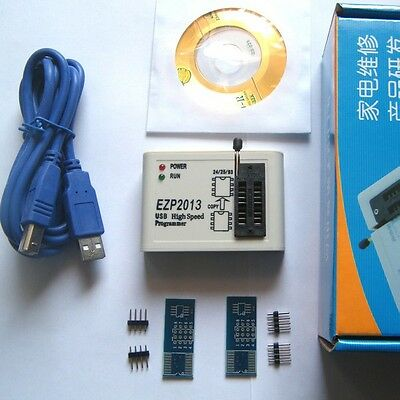 EZP2013 USB Programmer SPI Support 24 25 93 EEPROM Flash Bios Chip + Software