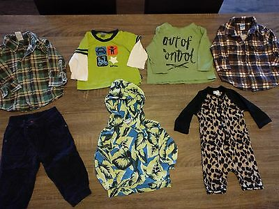 "pre-loved bulk ""Sprout"" ""Bonds"" ""Target"" ""H+T"" Baby boy clothes size 0-1 bundle"
